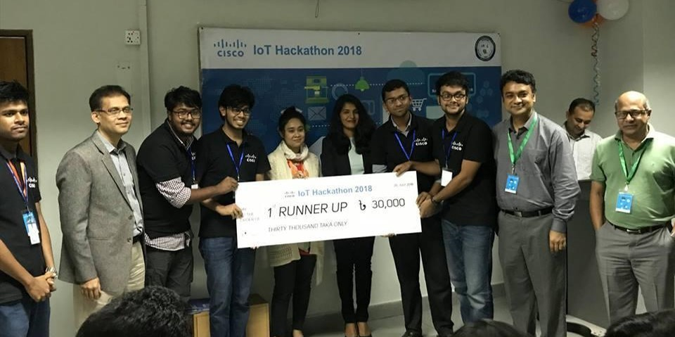 1st Runner Up:  @-Cisco IoT Hackathon – 2018