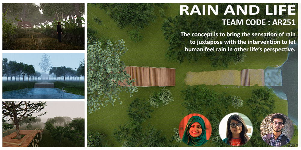 "ArchRUET students ""RECOGNIZED ENTRY"" for architectural idea competition ""Accentuating Rain "" by ArchTwist"