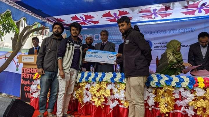 Team RUET_Narsil Became Champion at VU CSE Tech Fest 2019